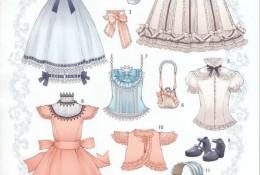 可爱卡哇伊女孩服饰参考详图素材 洛丽塔风格宫廷风女生服饰细节展示图片