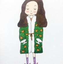 可爱时尚的现代女王大人简笔画教程 带上色步骤 时尚女王怎么画 画法