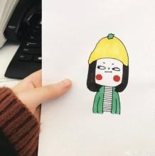 有点逗逼但很可爱萌的女生简笔画教程图片彩色 逗逼女生怎么画