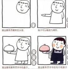 服务员简笔画教程图片 可爱的服务员小人卡通画画法 服务员怎么画