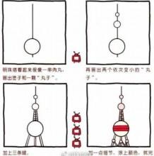 东方明珠简笔画教程图片 东方明珠的画法 东方明珠怎么画