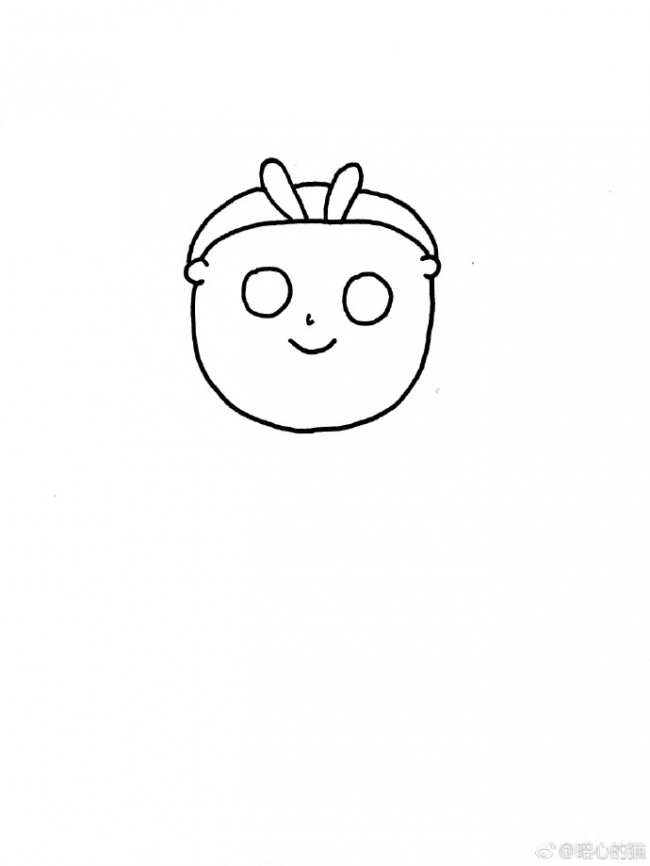 敷面膜的大脸妹简笔画教程 可爱的敷面膜的女生简笔画