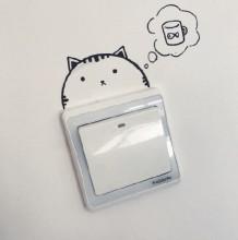简单的开关面板创意简笔画 让面板变身可爱小动物