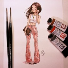 一组非常时尚的都市女性水彩插画作品 真实写照啊 画师iraville作品