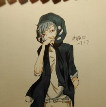 酷酷的风衣男生日系漫画教程 风衣带帽子的日系男生插画作品图片