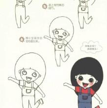 一组男生女生日常生活Q版简笔画教程 各种表情和身体肢体语言画法
