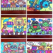 66款简单儿童画大全图片彩色 常见小动物儿童画大全图片素材