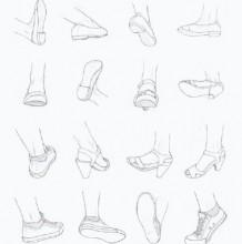 最全的鞋子素材图片 各种鞋子款式角度图片展示