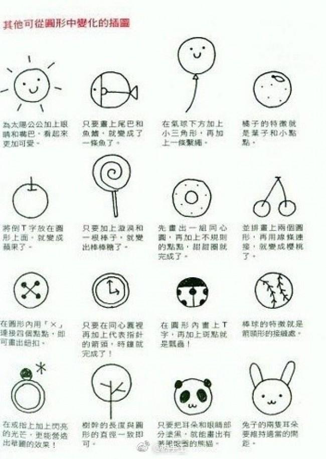 简单儿童画 简单拼贴画 简单简笔画 简单漫画教程作品图片集合 才艺君 第3页