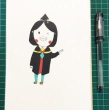 可爱Q版女博士简笔画教程图片 女博士简笔画怎么画 女博士的画法