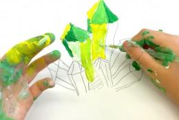 儿童色彩练习 钻石宝石的上色技巧和训练 临近色的运用