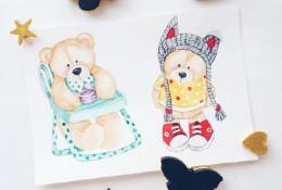 超可爱超萌的小动物水彩画作品 色彩运用非常好的欧美动物水彩作品
