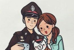 很萌有爱的情侣插画图片 温馨的情侣日常插画作品