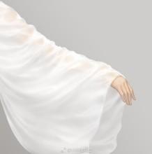 女生半透明纱巾纱衣怎么画 同透明度不同褶皱的纱衣怎么画 示例