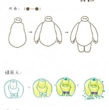 夏洛克+大白+绿巨人+唐三藏+孙悟空简笔画教程合集图片
