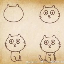 9种猫咪的画法简笔画教程 不同的猫咪姿势和表情怎么画 画法