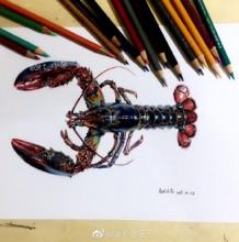 超逼真小龙虾写实水彩画教程步骤 这次真的是画出来的了