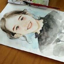 可爱童真的小女生插画教程图片带上色过程