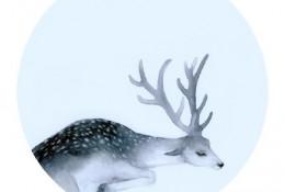 唯美小鹿水彩画手绘上色教程图片演示