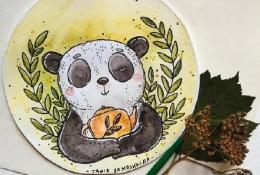 国外色彩明亮的儿童画水彩作品欣赏图片 samoshkina_art 