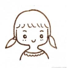 最简单的小女孩的简笔画图片 适合小孩子画的小女生简单儿童画