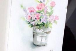 水彩植物花卉水彩画图文教程大全 详细实用的花卉水彩画教程图片