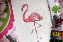 充满生命力的动物水彩画图片 画家Sally 很有张力感染力