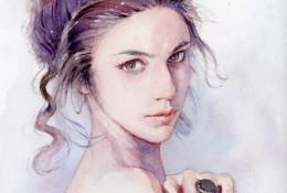 气质美女的水彩画教程图片 带上色步骤