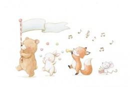 一组超可爱小动物水彩画图片合集 小清新治愈系小动物水彩画