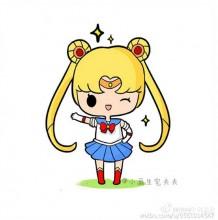 美少女战士卡通简笔画 儿童人物简笔画水冰月美女 女生喜欢的喜简笔画