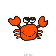 简单的螃蟹简笔画画法 螃蟹怎么画 螃蟹卡通画手绘教程