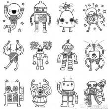 机器人怎么画 简单的机器人画法 可爱形象的机器人卡通画绘画教程