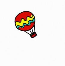 热气球简笔画教程图片 热气球的画法 热气球怎么画 热气球卡通画