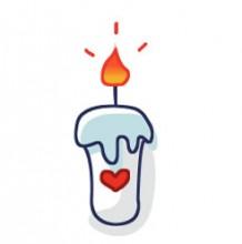 好看的蜡烛怎么画 蜡烛烛火简笔画教程图片 生日蜡烛的画法