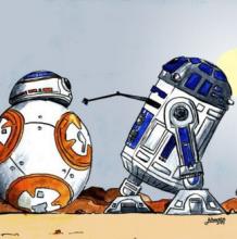 星球大战BB-8机器人简笔画画法 机器人卡通画教程 星球大战BB-8机器人怎么画