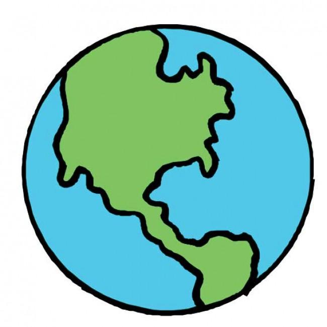 可爱的地球怎么画简单的地球简笔画睡觉的地球宝宝卡通画画法 图片 9P