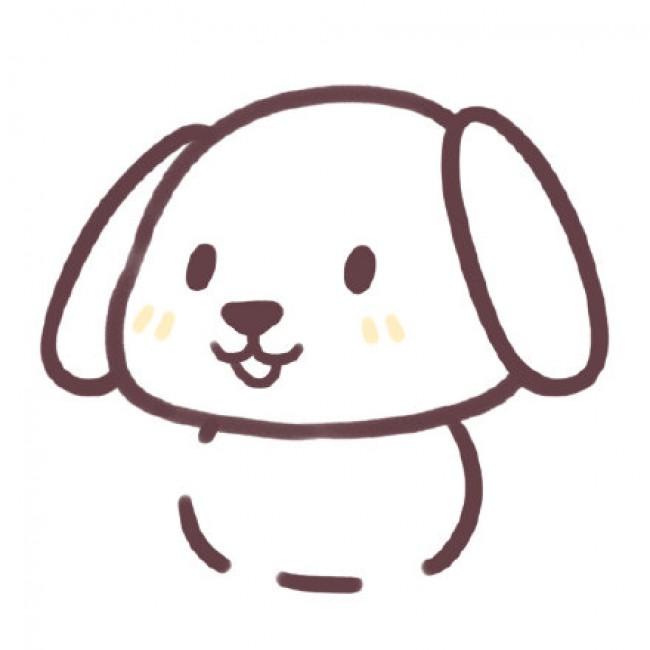 卡通小狗的画法 可爱的小狗简笔画教程