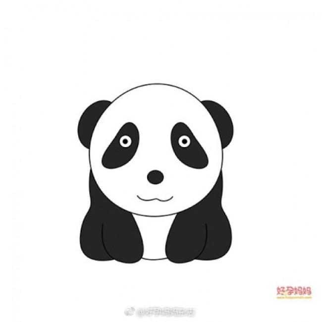 可爱呆萌的小熊猫画法 大熊猫简笔画教程 熊猫儿童画卡通画手绘