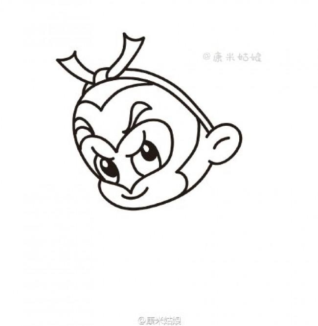 可爱q版卡通孙悟空简笔画画法 齐天大圣孙悟空卡通儿童画画法 孙悟空