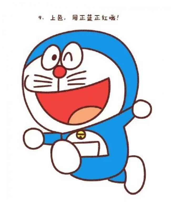 多款机器猫简笔画各种姿势机器猫儿童卡通画画法机器猫简笔画手绘绘画教程