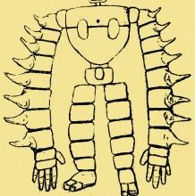 天空之城机器人怎么画 卡通机器人画法 机器人简笔画儿童画