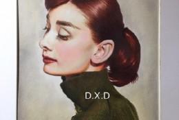 经典女神奥黛丽赫本彩铅肖像画教程图片 带上色过程步骤