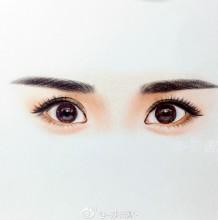一双水汪汪有神的女性眼睛的彩铅画绘画教程图解详解 精美眼睛彩铅画法