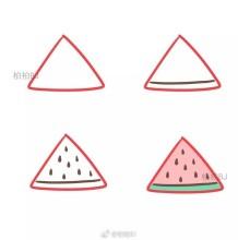 用三角形画的简单简笔画图片 三角形可以画出那些简笔画图片