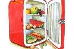 生活小物马克笔上色素描画 造型塑造和色彩运用都很棒 冰箱和食物系列