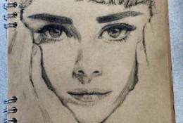 女神奥黛丽赫本素描画画法教程步骤演示