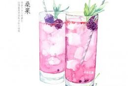 玻璃杯果汁水彩画教程图片 上色分解步骤 展示玻璃水杯的质感