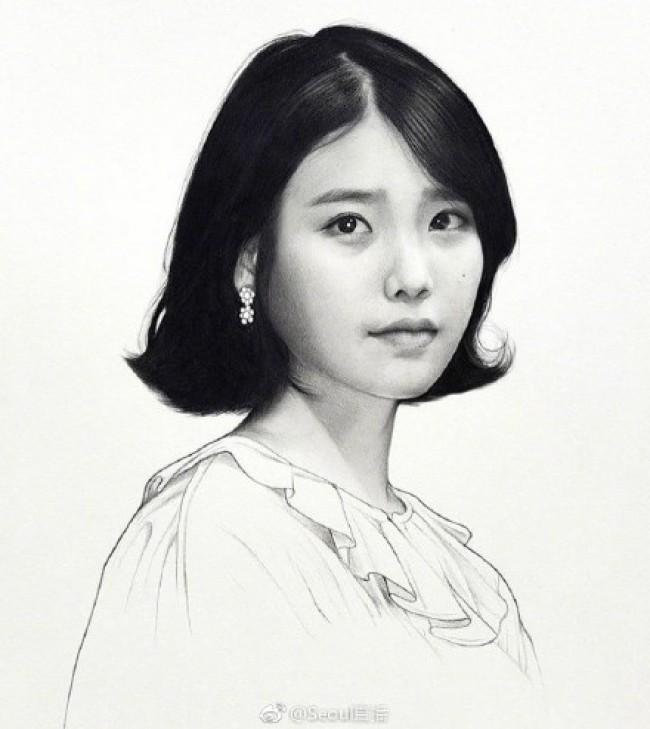 韩国知名明星的素描画图片作品 看看你心中的爱豆画的