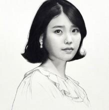 韩国知名明星的素描画图片作品 看看你心中的爱豆画的好不好