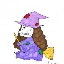 骑扫帚的老巫婆简笔画教程图片 老女巫的画法 女巫怎么画